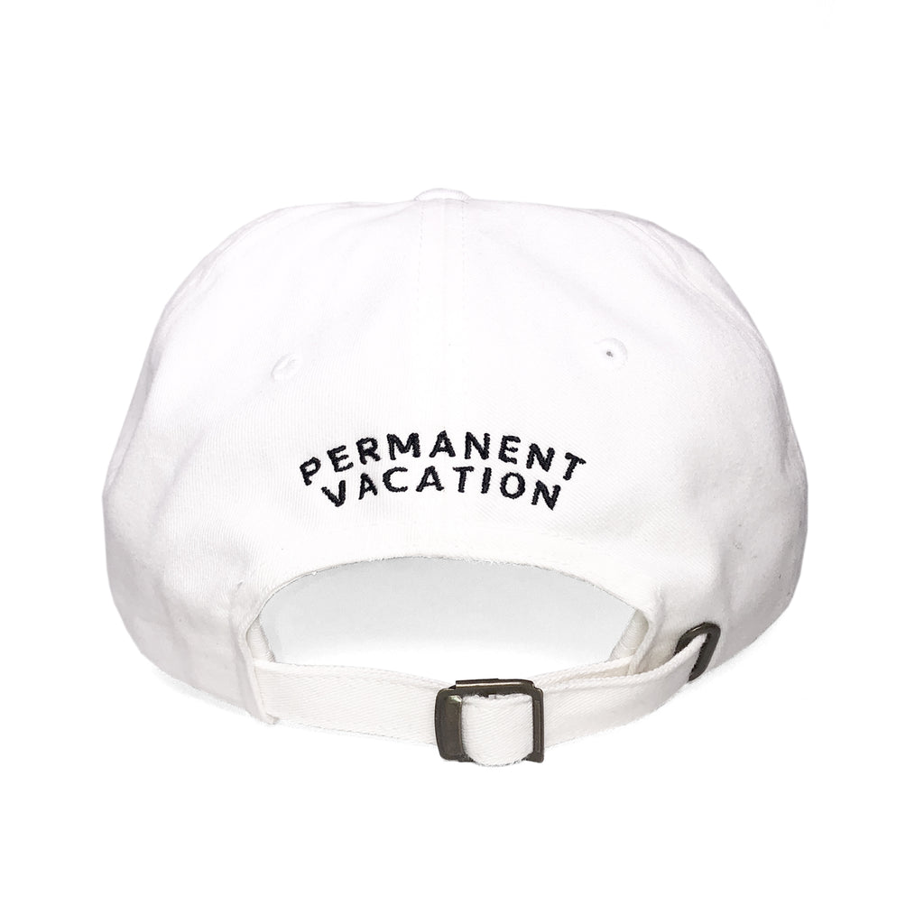 rear view dad hat white