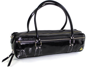 Black Patent Leather Flute Bag