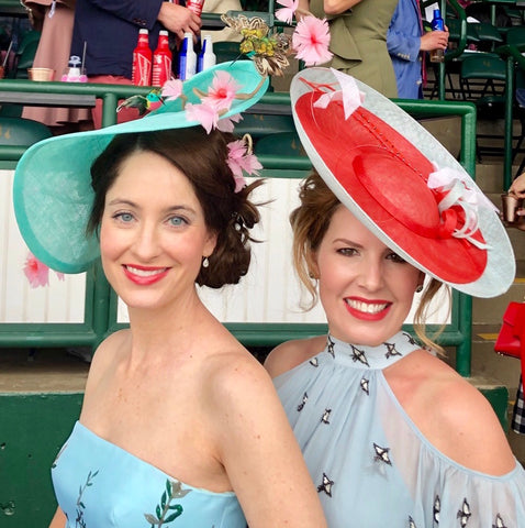 Derby Day style custom Milli Starr saucer hats
