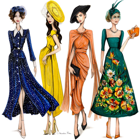 Alexandra Nea fashion illustrations