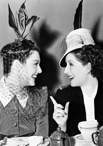 Rosalind Russell and Norma Shearer