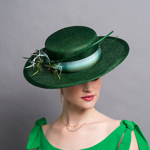 Green Boater Hat Kentucky Derby Royal Ascot