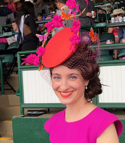Kentucky Oaks butterfly fascinator