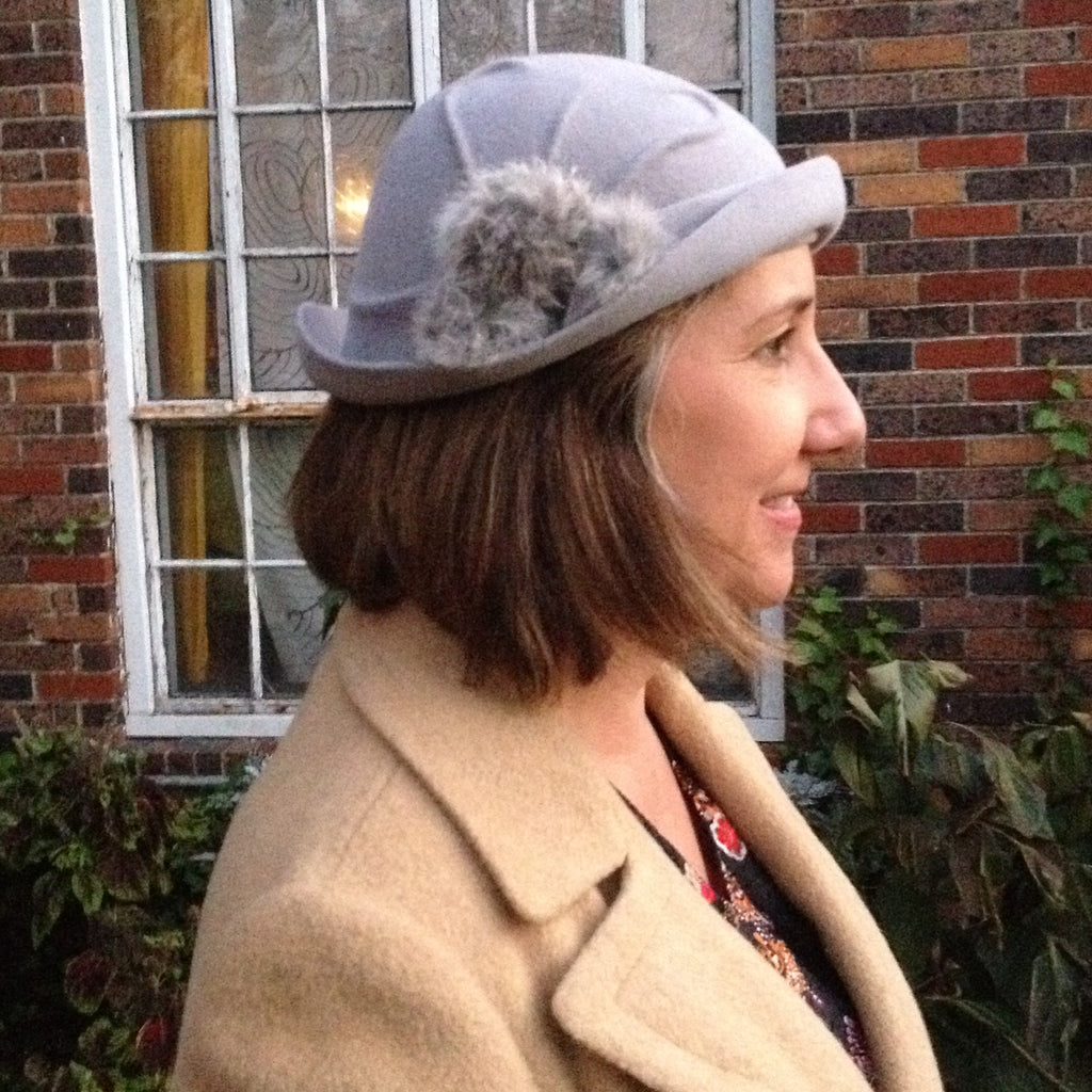 Draped Fur Felt Cloche Class