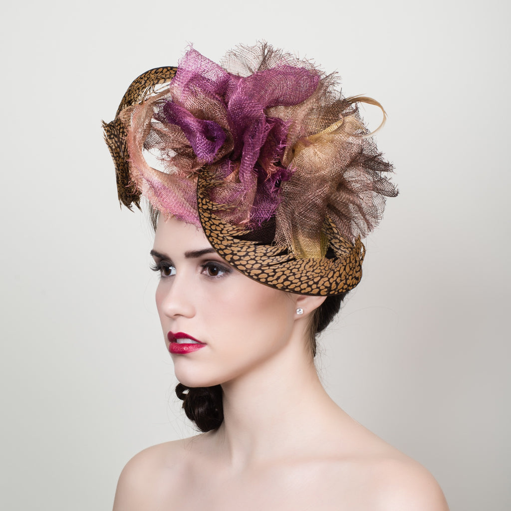 Hand-Dyed Sinamay Fascinator Class