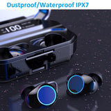 IPX7 TWS 5.0 Bluetooth 9D Stereo Earphone with Power Bank Phone charger