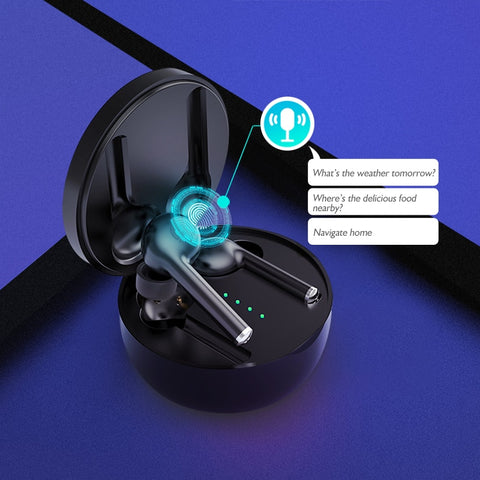 TW40 Wireless Earphones Bluetooth 5.0 Touch Control Earbuds Headset Hands-Free Earpiece Deep Bass with Noise Cancelling