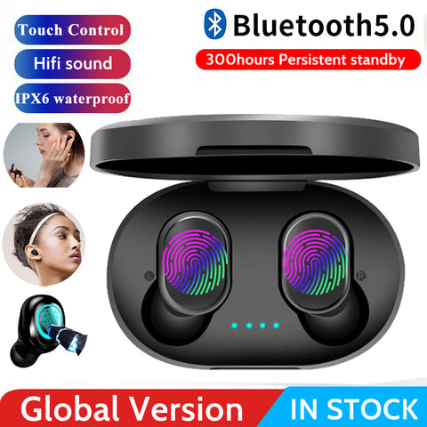 A6S Bluetooth 5.0 TWS Wireless Airdots Earbuds with  Headsets Noise Cancelling Mic For iPhone Samsung