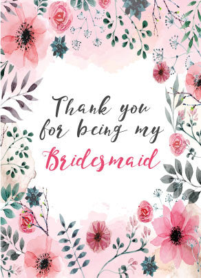 Thank You For Being My Bridesmaidmaid Of Honour Wine Bottle Label