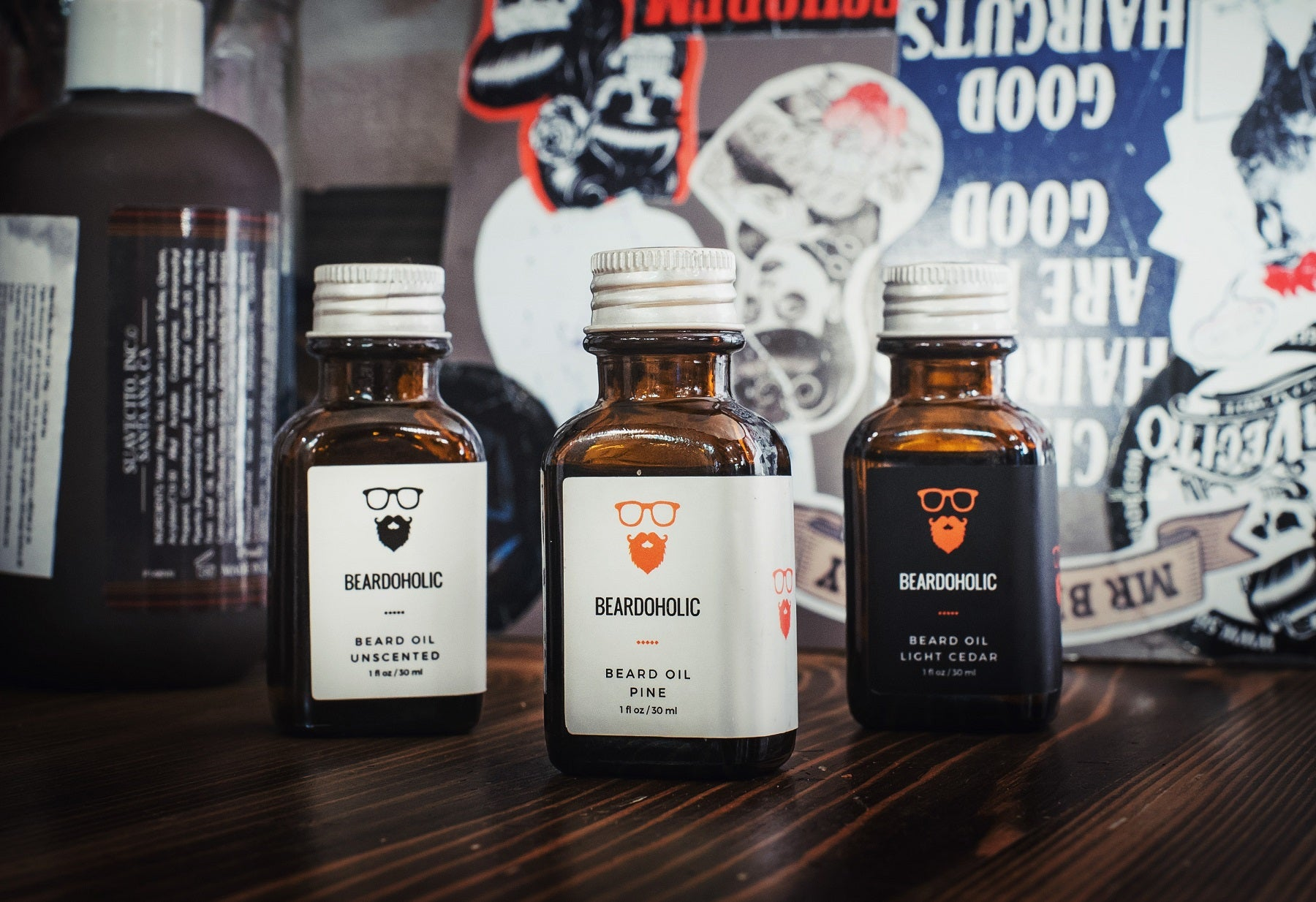 Beardoholic Beard Oil Collection - Close up