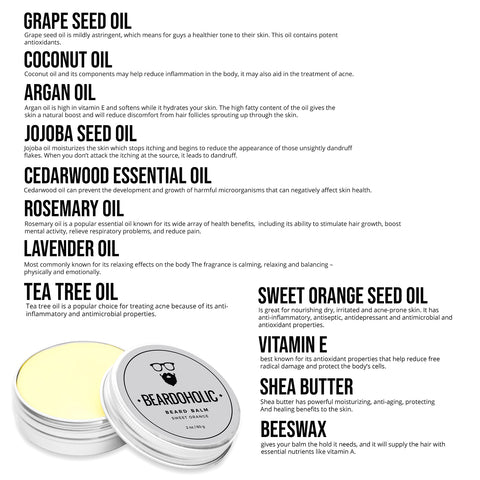 8. Beard Balm - Sweet Orange
