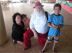 Meeting Santa on vacation in Jamaica