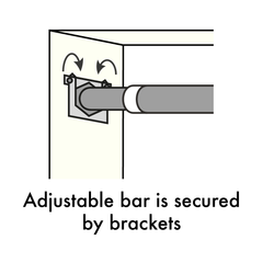 The pull-up bar is secured by brackets