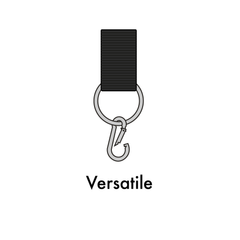 An image of the black straps with O-ring that make a pull-up bar versatile