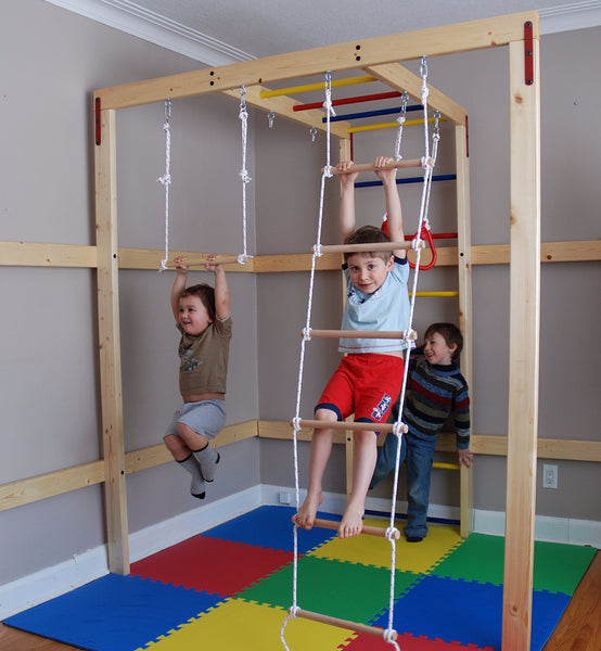Diy home jungle gym for kids wood sold separately dreamgym for Wooden jungle gym plans