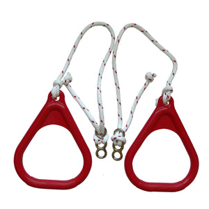 Gymnastics Rings for Kids - Red - DreamGYM