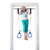 Indoor Swing by DreamGYM | Trapeze & Rings Combo Blue and Therapy Swing Red - DreamGYM