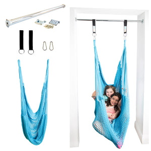 Doorway Therapy Net Swing - Sky Blue