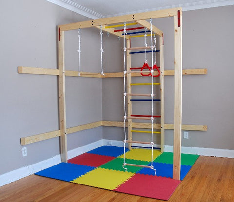 Indoor jungle home gym for children