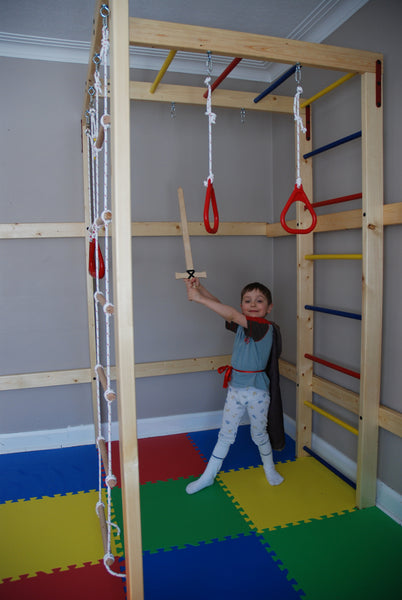 Diy home jungle gym for kids wood sold separately dreamgym for Diy jungle gym ideas