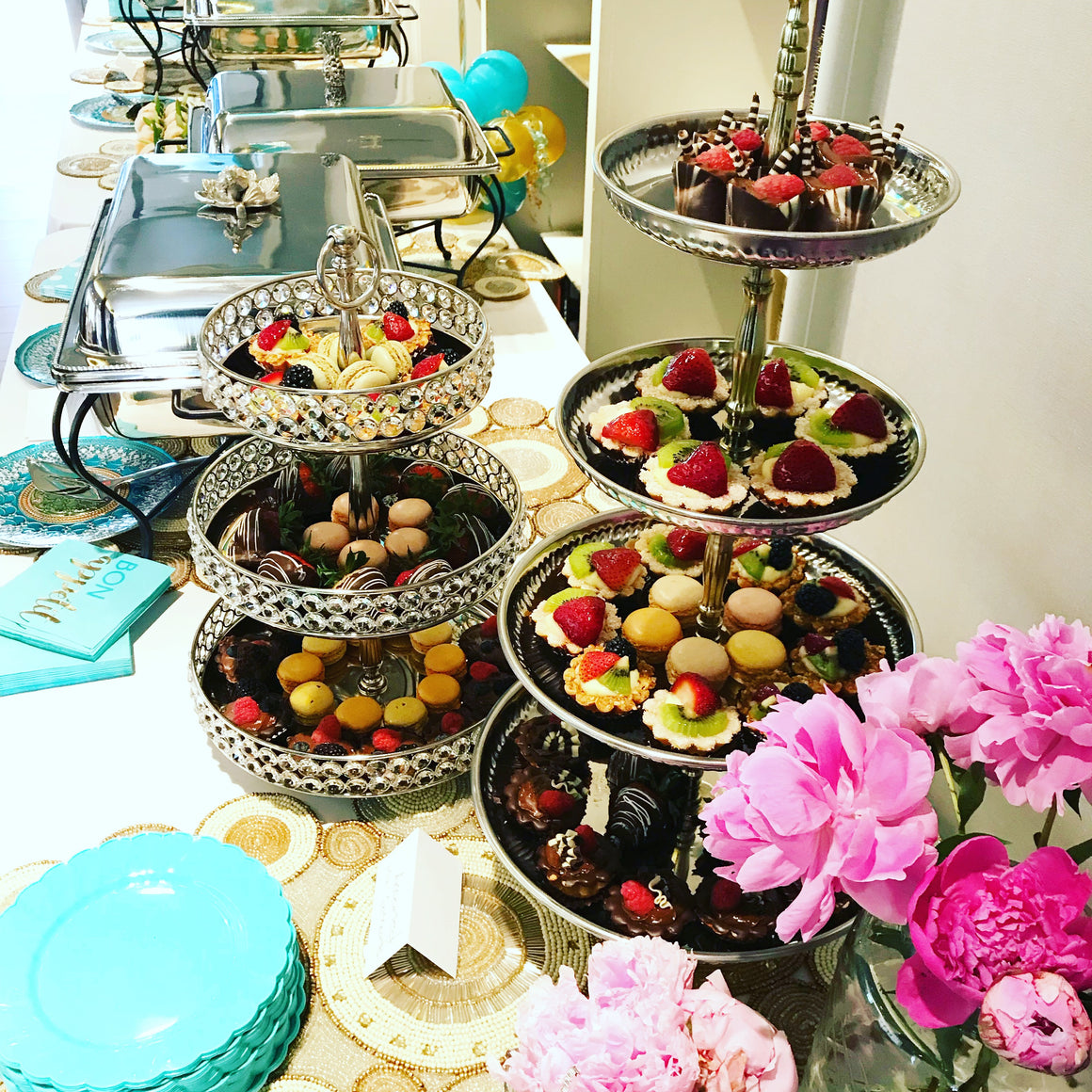 Wedding Reception - Passed Appetizers & Appetizer Buffet/Stations Full Service