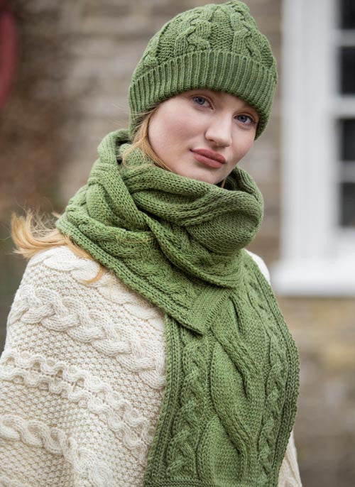 cef9c03ff Aran Traditional Chunky Cable Knit Hat - Unisex | somethingceltic