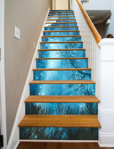 Star Fall Painted Stairway, 15 Stairs