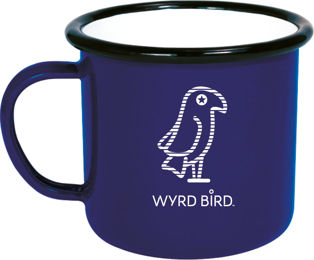 Wyrd Bird handmade enamel-look finish mugs  - XMAS limited edition