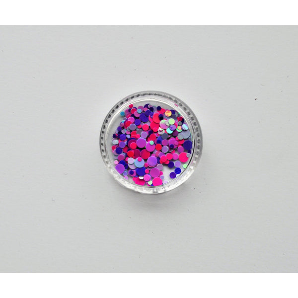 Round Multi Color Glitter Confetti
