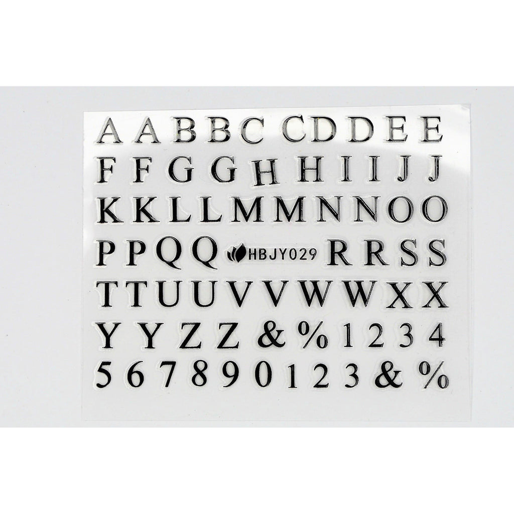 English Letter Stickers