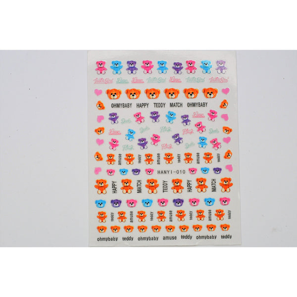 Teddy Bear Nail Stickers