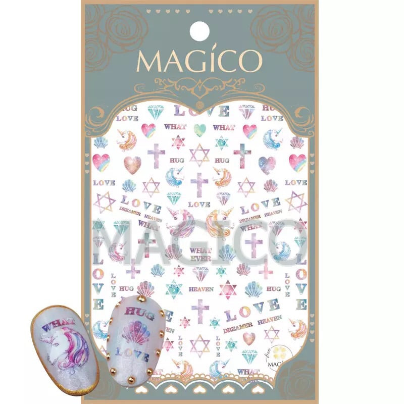 Magical Unicorn Art Nail Stickers
