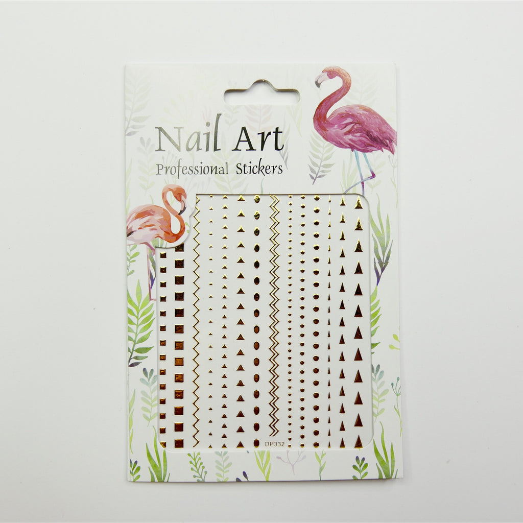 Geometric Patterns Art Nail Stickers