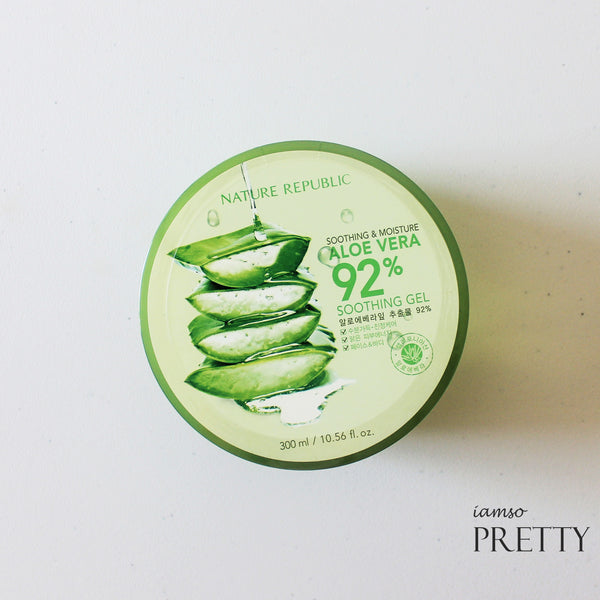 NATURE REPUBLIC Soothing & Moisture ALOE VERA 92% Soothing Gel (300ml)