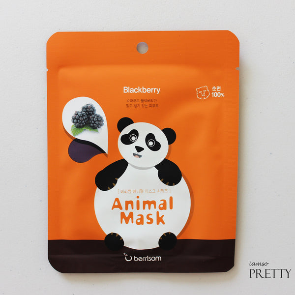 BERRISOM Animal Sheet Mask Series | Panda (Blackberry)