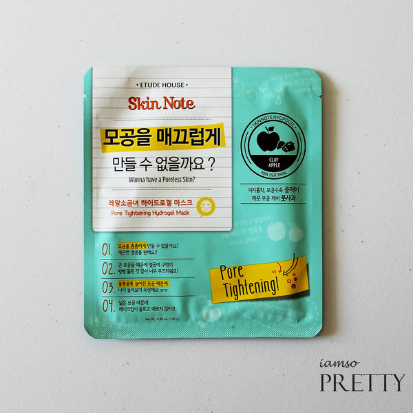 ETUDE HOUSE Skin Note Hydrogel Mask | Pore Tightening