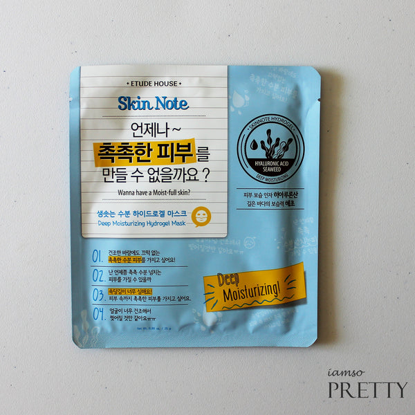 ETUDE HOUSE Skin Note Hydrogel Mask | Deep Moisturizing