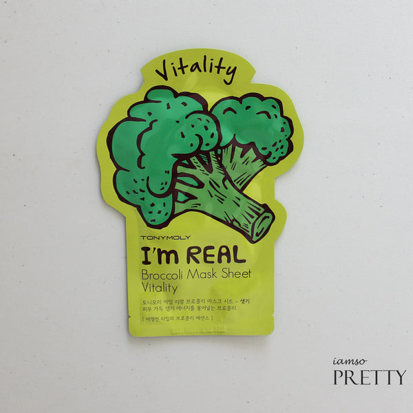 TONYMOLY I'm Real Mask Sheet -Broccoli (Vitality)