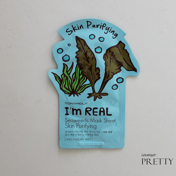 TONYMOLY I'm Real Mask Sheet- Seaweeds (Skin Purifying)