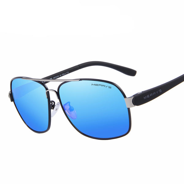 FL Fashion Sunglasses Polarized Blue with Black frame - Fashlabz Canada