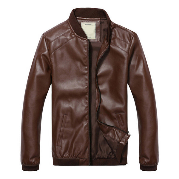 FL Smooth Criminal Leather Jacket - Fashlabz Canada