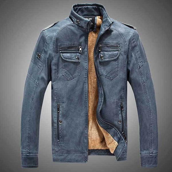FL Fearless Men Leather Jacket Winter - Fashlabz Canada