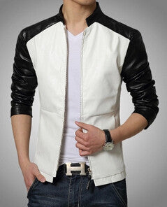 FL Adonis Slim-Fit Trendy Leather Jacket - Fashlabz Canada