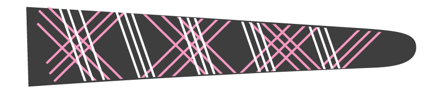 Lines (Graphite/Pink) - Upscale Eyes