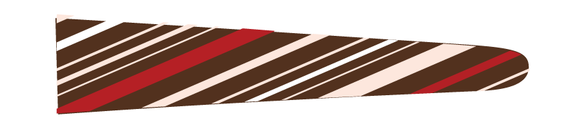 Stripes (Brown/Red) - Upscale Eyes