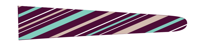 Stripes (Bordeaux/Teal) - Upscale Eyes