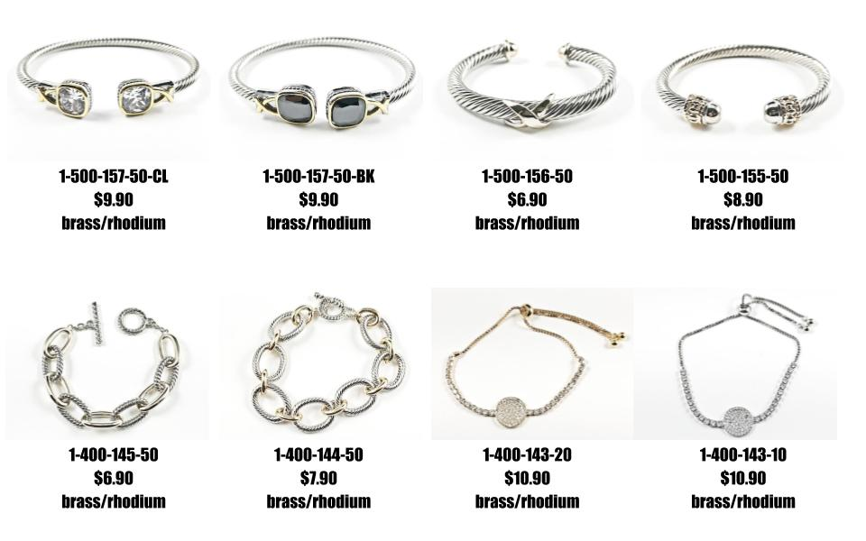 Just Added: Textured duo bangles and cz draw string brass bracelet