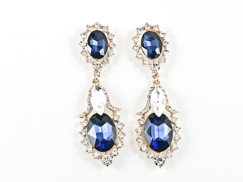 Fancy Sapphire Color Fashion Earrings