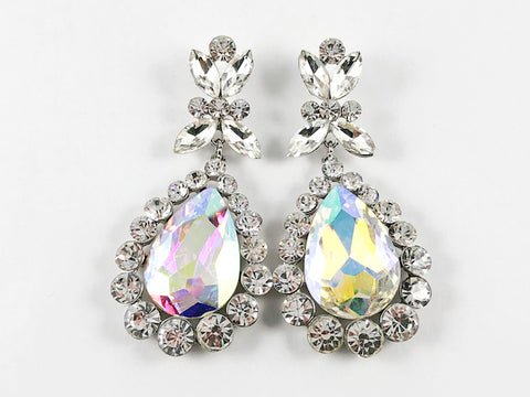 Fancy Aurora Borealis Color Dangle Fashion Earrings