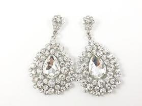 Large Dangling Pear Shaped Design Fashion Earrings